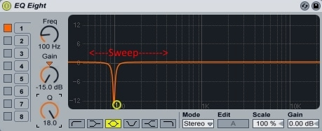 Ableton Live - EQ Eight - Notch Sweep