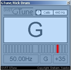 GTune VST Showing 50Hz